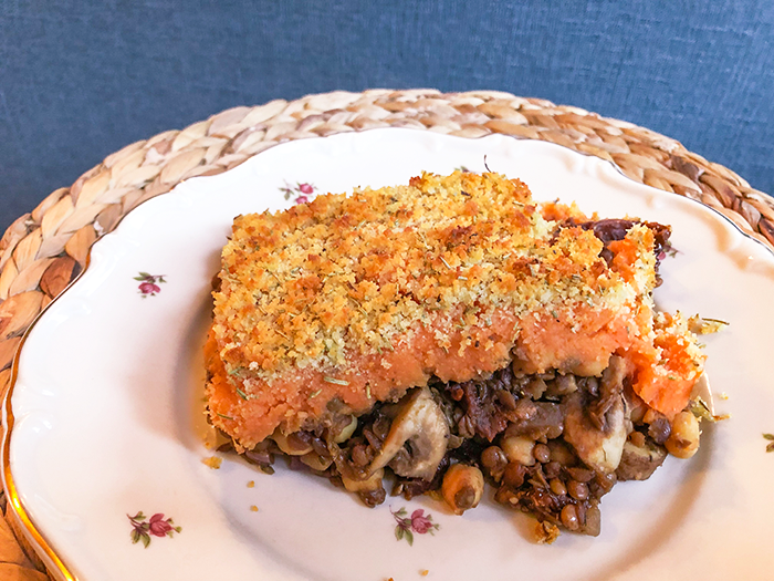 vegan zero waste shepherd's pie