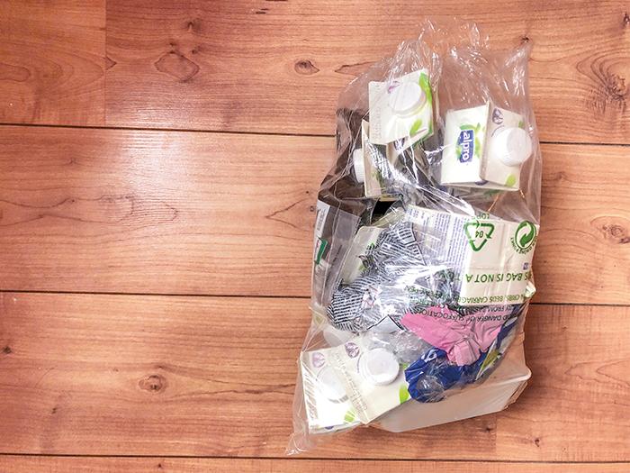 vegan zero waste - plastic afval van de afgelopen 4 weken