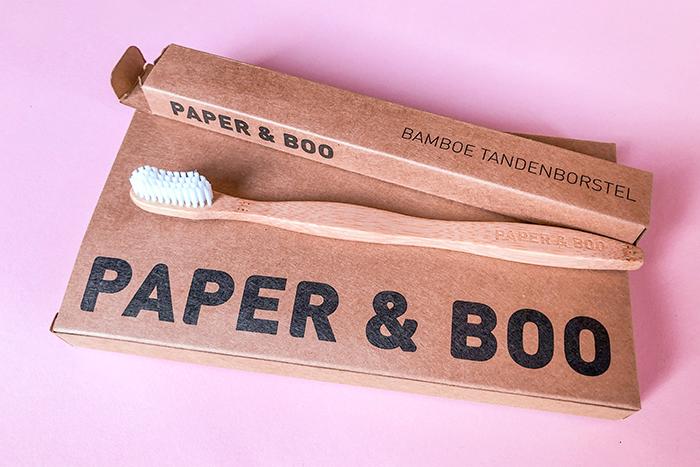 PAPER & BOO bamboe tandenborstel